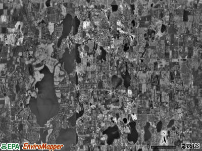 Antioch township, Illinois satellite photo by USGS