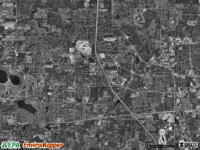 Warren township, Illinois satellite photo by USGS