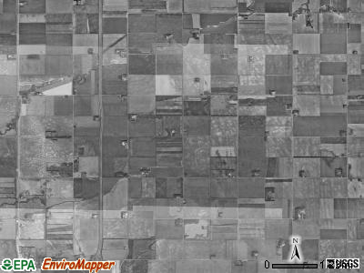 Americus township, North Dakota satellite photo by USGS
