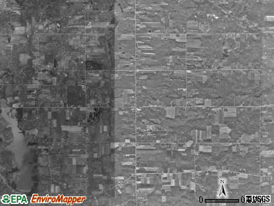 Huntsburg township, Ohio satellite photo by USGS