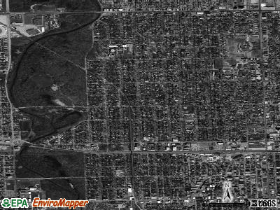 River Forest township, Illinois satellite photo by USGS