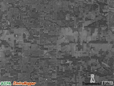 North Bloomfield township, Ohio satellite photo by USGS