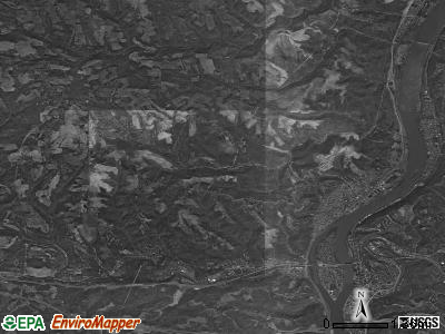 Pease township, Ohio satellite photo by USGS