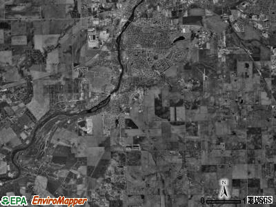 Oswego township, Illinois satellite photo by USGS