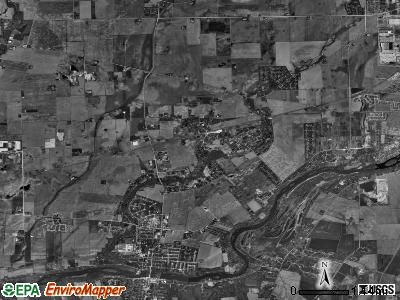 Bristol township, Illinois satellite photo by USGS