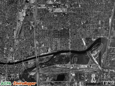Calumet township, Illinois satellite photo by USGS