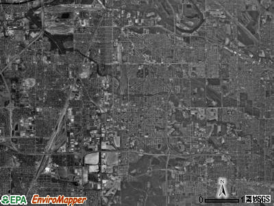 Thornton township, Illinois satellite photo by USGS