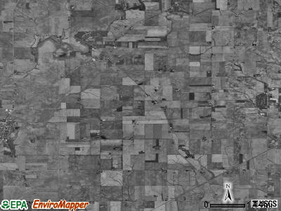 Clarion township, Illinois satellite photo by USGS