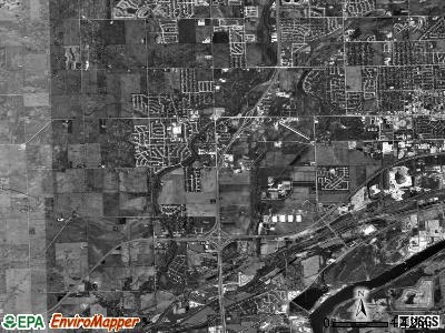 Troy township, Illinois satellite photo by USGS