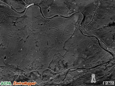 Westfall township, Pennsylvania satellite photo by USGS