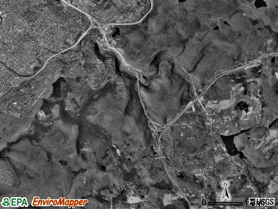 Roaring Brook township, Pennsylvania satellite photo by USGS