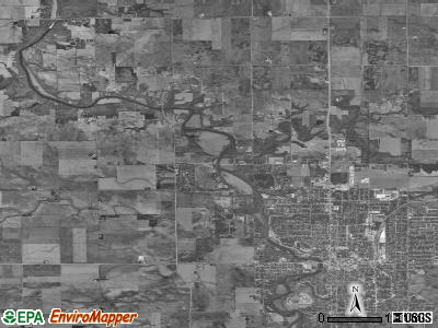Bruce township, Illinois satellite photo by USGS