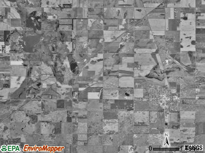 Miller township, South Dakota satellite photo by USGS