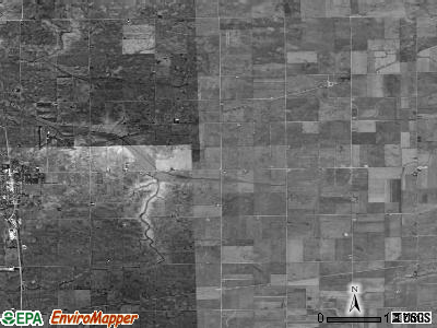 Osage township, Illinois satellite photo by USGS