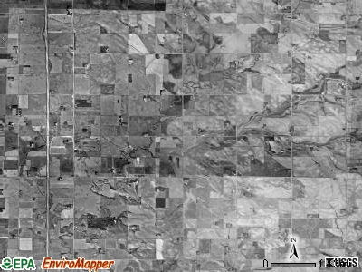 Emmet township, South Dakota satellite photo by USGS