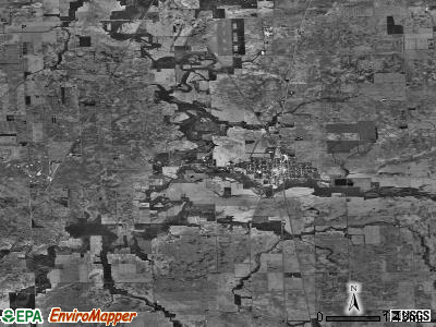 Milford township, Illinois satellite photo by USGS