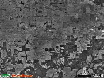 Deer Creek township, Illinois satellite photo by USGS