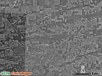 La Harpe township, Illinois satellite photo by USGS