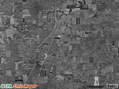 Loda township, Illinois satellite photo by USGS