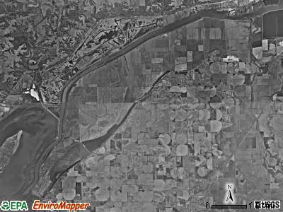 Spring Lake township, Illinois satellite photo by USGS
