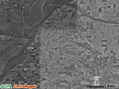 Havana township, Illinois satellite photo by USGS