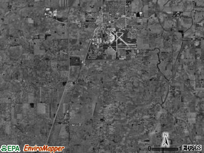 Rantoul township, Illinois satellite photo by USGS