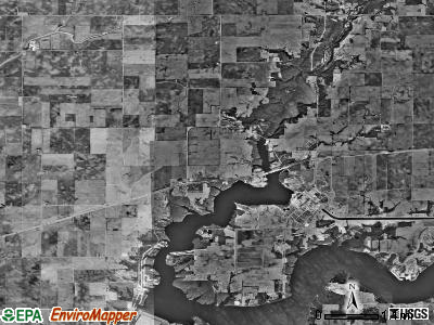 Harp township, Illinois satellite photo by USGS