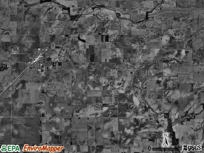 Pleasant View township, Illinois satellite photo by USGS