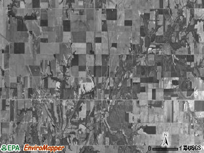 Liberty township, Illinois satellite photo by USGS