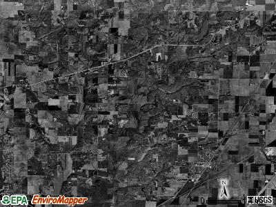 Omphghent township, Illinois satellite photo by USGS
