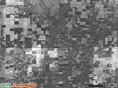 Omega township, Illinois satellite photo by USGS
