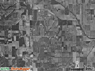 Long Branch township, Illinois satellite photo by USGS
