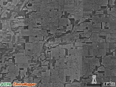 Anderson township, Indiana satellite photo by USGS