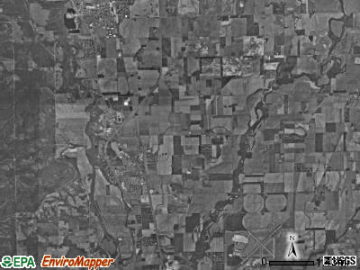 German township, Indiana satellite photo by USGS