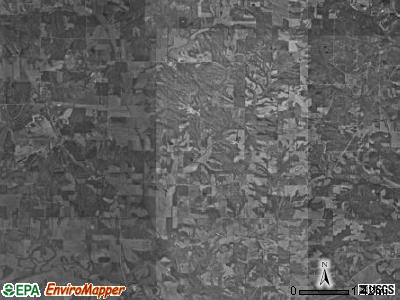 Jefferson township, Indiana satellite photo by USGS