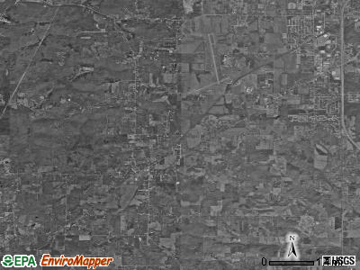 Van Buren township, Indiana satellite photo by USGS