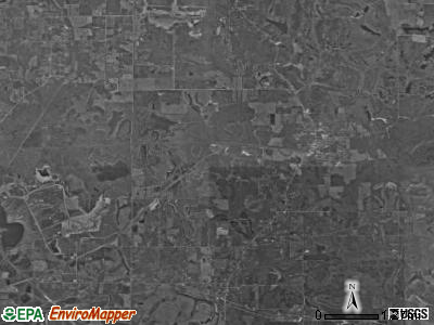 Patoka township, Indiana satellite photo by USGS