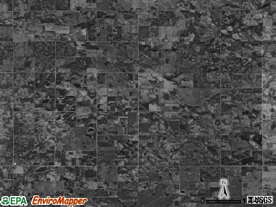 Mount Valley township, Iowa satellite photo by USGS