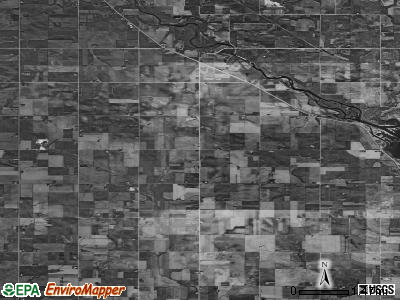 Riverton township, Iowa satellite photo by USGS