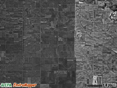Bethel township, Iowa satellite photo by USGS