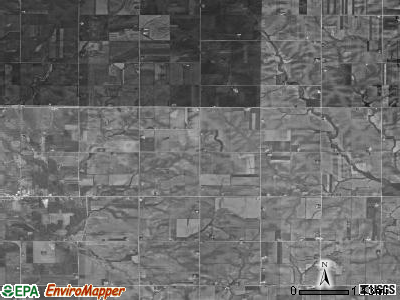 Banks township, Iowa satellite photo by USGS