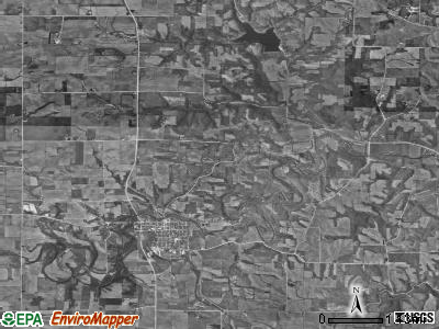 Westfield township, Iowa satellite photo by USGS