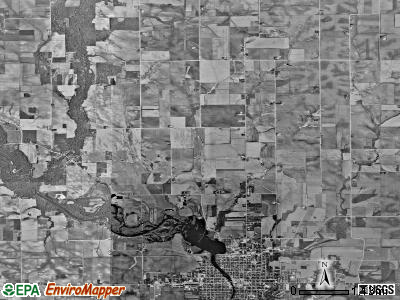 Washington township, Iowa satellite photo by USGS