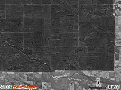 Spring Creek township, Iowa satellite photo by USGS
