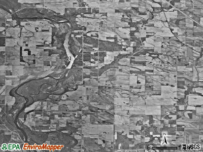 Harrison township, Iowa satellite photo by USGS