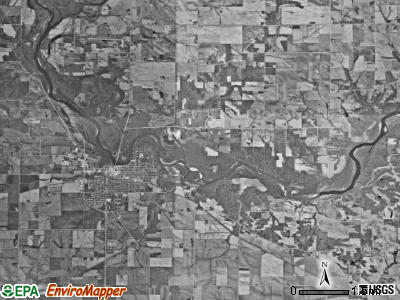 Taylor township, Iowa satellite photo by USGS