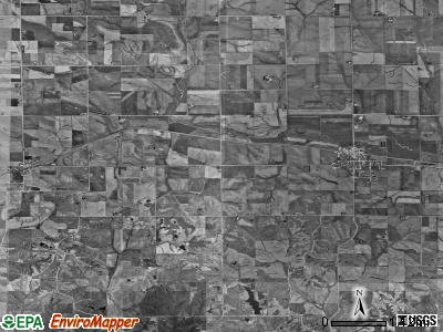 Leroy township, Iowa satellite photo by USGS