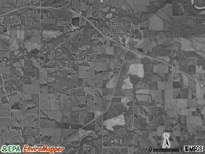 Allen township, Iowa satellite photo by USGS