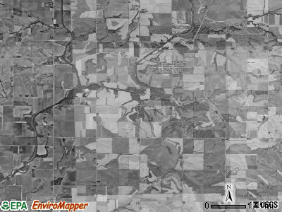 Cass township, Iowa satellite photo by USGS