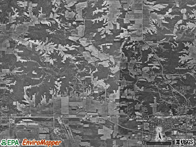 Flint River township, Iowa satellite photo by USGS